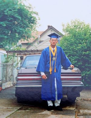 Dad, Valedictorian at City High Middle School, 1994